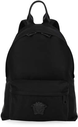 Versace Men's Nylon Backpack w/ Medusa Head Detail