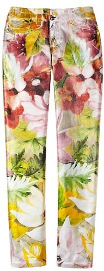 Juicy Couture Girls Tropical Floral Foil Jean