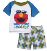 Children's Apparel Network Sesame Street 'Elmo's the Coolest' Raglan Tee & Shorts - Infant