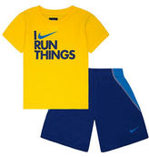 Nike I Run Things Two-Piece Tee and Shorts Set