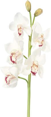 OKA Faux Cymbidium Orchid Stem - White