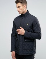 Lyle & Scott Diamond Quilt Jacket in Black