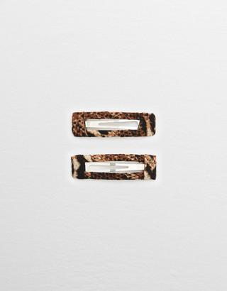 aerie Leopard Snap Clip 2-Pack
