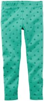 Carter's Knit Dot Leggings (Baby) - Mint-24 Months