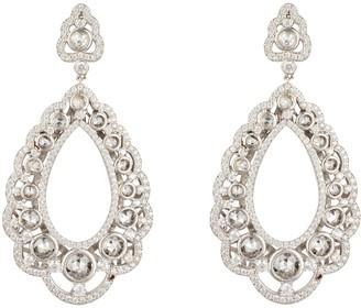 Latelita Marquess Regal Drop Earrings White Silver