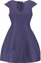 Halston Cotton and silk-blend mini dress