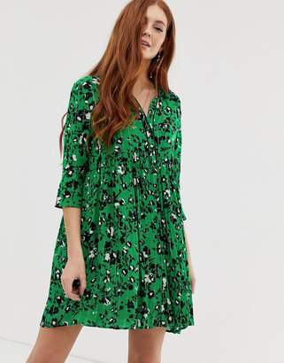 BA&SH Erine mini shirt dress-Green