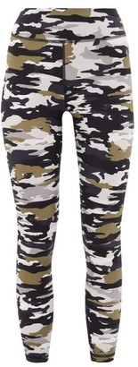 The Upside Pearl Camouflage-print Technical Leggings - Womens - Grey Print