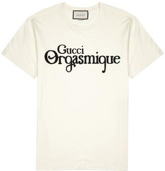 Gucci Orgasmique printed cotton T-shirt