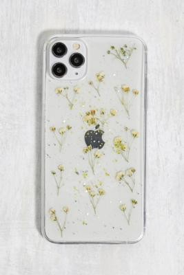 Urban Outfitters White Glitter Flower iPhone 11 Pro Max Phone Case - White ALL at