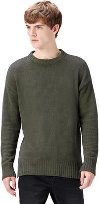 Find. Amazon Brand Men's Chunky Knit Crew Neck Jumper