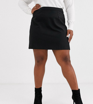 Asos DESIGN Curve tailored a-line mini skirt