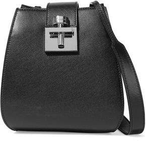 Oscar de la Renta Houston Smooth And Textured-leather Bucket Bag