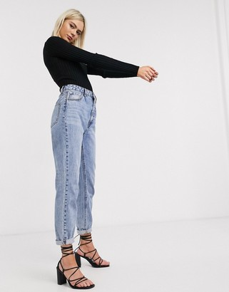 ASOS DESIGN crew neck jumper in skinny rib