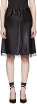 Nina Ricci Black Lace Satin Slip Skirt