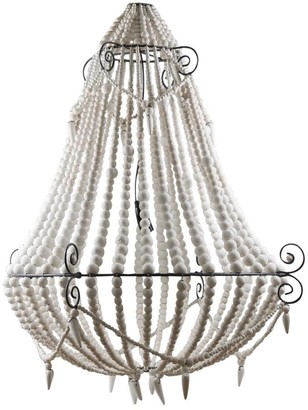 Emac & Lawton Beaded Chandelier Large White