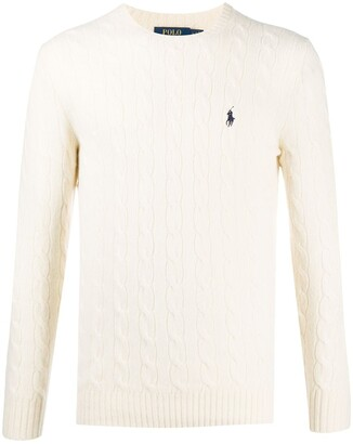 Polo Ralph Lauren Cable-Knit Logo Jumper