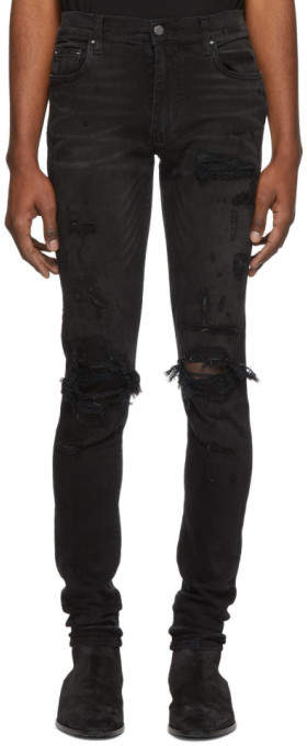 Amiri Black Super Repair Jeans