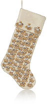 "Kim Seybert Pearl Fringe"" Holiday Stocking-GOLD"