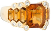 Ring 18K Citrine & Diamond Cocktail