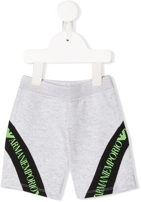 Emporio Armani Kids Stripe Trim Shorts