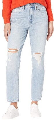 Madewell Classic Straight Jeans in Calabria Wash: Ripped Edition (Calabria Wash) Women's Jeans