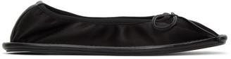 Lanvin Black Silk Ballerina Flats
