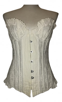 Agent Provocateur White Lace Top for Women