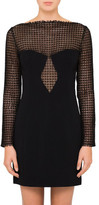 Alexander Wang Long Sleeve Sheath Dress With Front Lace Panel