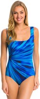 Longitude Coral Shine U Back Tank One Piece Swimsuit 8138686