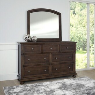 Darby Home Co Chilmark 7 Drawer Double Dresser with Mirror