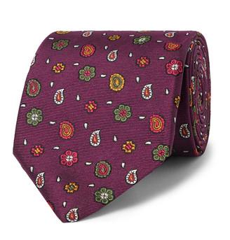 Etro 8cm Embroidered Silk-Faille Tie