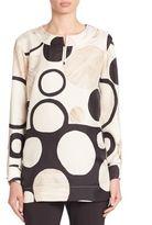 Piazza Sempione Circle Print Silk Tunic