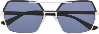 Marni Eyewear Oversized Aviator-Frame Sunglasses