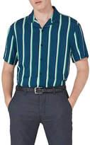 Topman Stripe Revere Collar Shirt