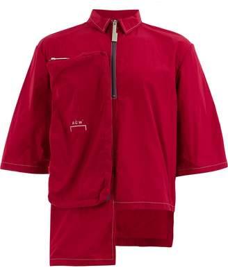 A-Cold-Wall* asymmetric shortsleeved shirt jacket