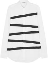 Neil Barrett White Striped Cotton Shirt