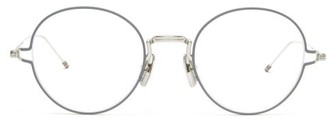 Thom Browne Round Metal Glasses - Grey