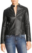 Cupcakes And Cashmere Katherine Faux Leather Moto Jacket