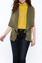 Elan Olive Drape Vest