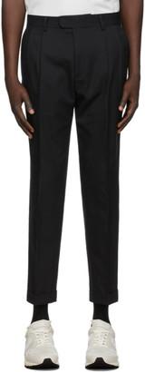Ermenegildo Zegna Black Wool Tailored Trousers