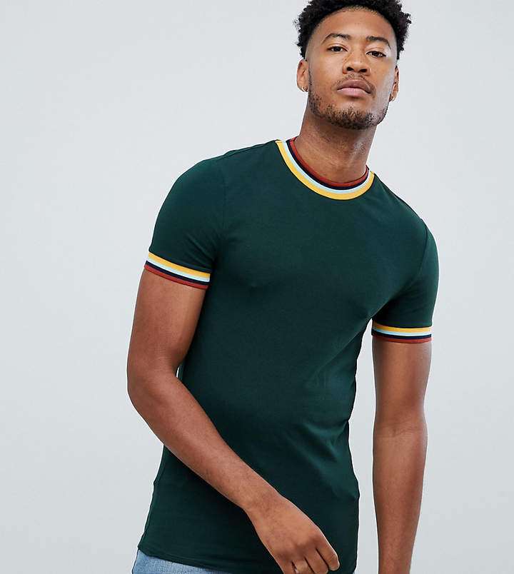 9e0d2332 Asos Green Fitted Tops For Men - ShopStyle Canada