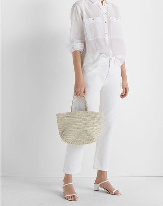 Club Monaco Woven Leather Bag