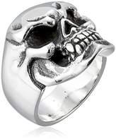 Room101 Men's Sterling Mini Skull Ring