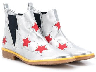 Stella Mccartney Kids TEEN star print boots