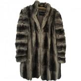 Christian Dior Grey Chinchilla Coats