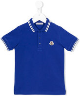 Moncler embroidered logo polo shirt - kids - Cotton - 4 yrs