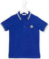 Moncler embroidered logo polo shirt - kids - Cotton - 5 yrs