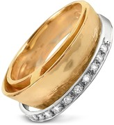 Torrini Tama - Diamond Channel 18K Yellow Gold Band Ring
