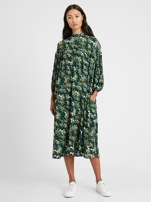 Banana Republic Balloon-Sleeve Dress